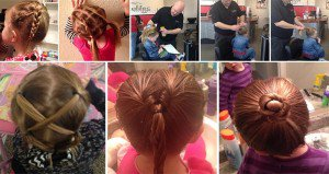 dad goes beauty school to do daughters hair