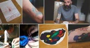 Dad Tattoos Kids Drawings On Arm