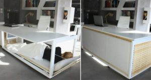 Desk With Bed