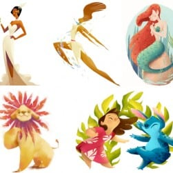 Disney Characters Illustrations