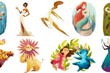 Disney Characters Illustrations