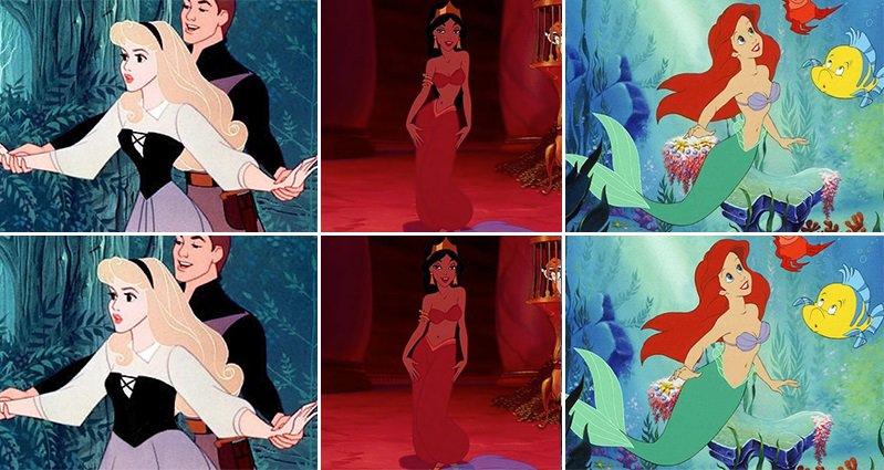 disney princesses with more realistic waistlines