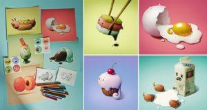 Food Art Little Animals