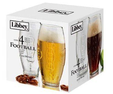 Football Beer Glasses box