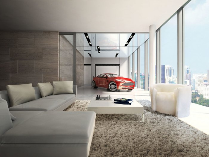 In These Luxury Condos You Can Actually Park Your Car Next