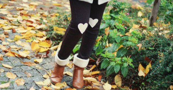 Heart Patch Leggings