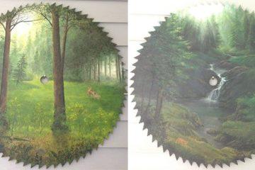 Landscapes On Saw Blades