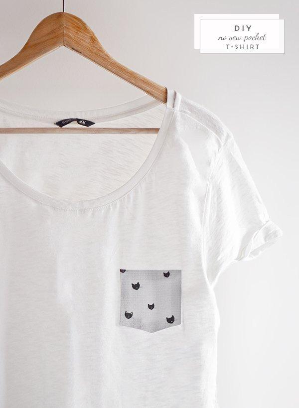 No Sew Pocket T-Shirt
