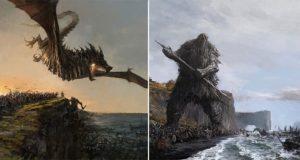 Icelandic Myths paintings