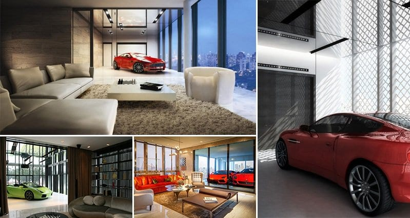 Garage in your living room living room for Living room garage