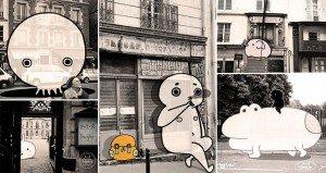 Photos Of Paris With Cartoons