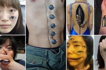 Realistic Creepy Body Art