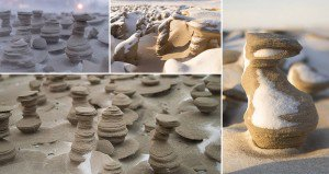 Sand Towers Lake Michigan