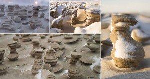 Sand Towers Lake Michigan