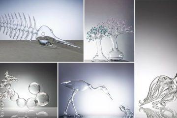 Simone Crestani Glass Sculptures