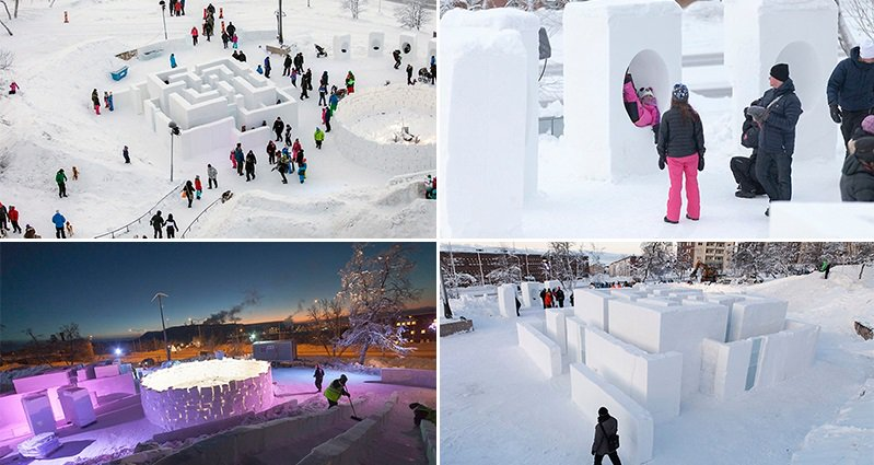 This Awesome Playground Is Made From Ice And Snow