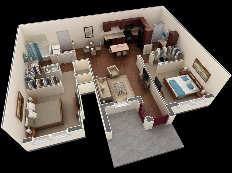 Springs Apartments Shared-Apartment-Plan