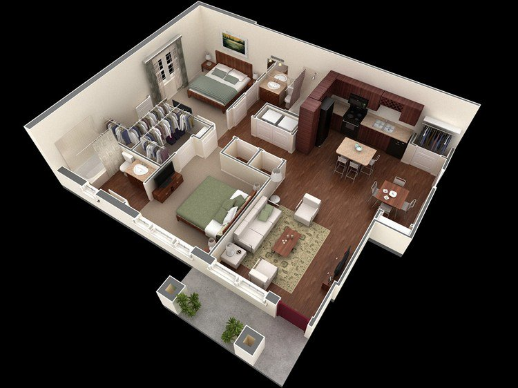 Springs Apartments open plan