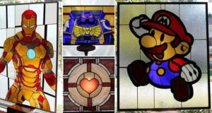 Superhero Stained Glass Panels
