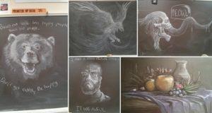 Teacher Creates Chalkboard Works Of Art