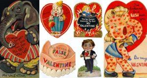 strange and funny Vintage Valentines day cards