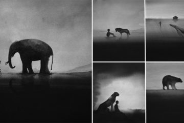 Watercolor Silhouettes Paintings