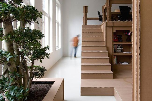 amsterdam-cardboard-office-stairs