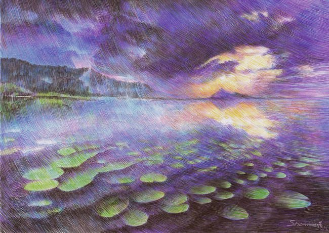 Marite Desaine Creates Magical Landscapes In Ballpoint Pen