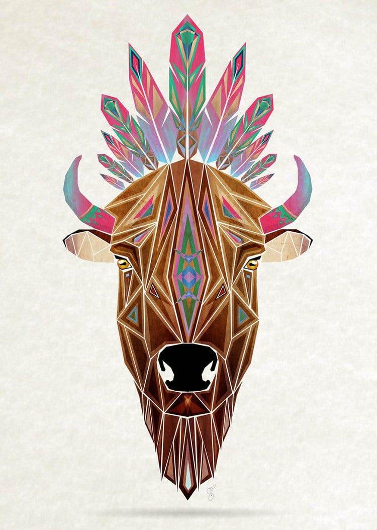 This Artist Creates Awesome Tangram Inspired Geometric Animal Illustrations