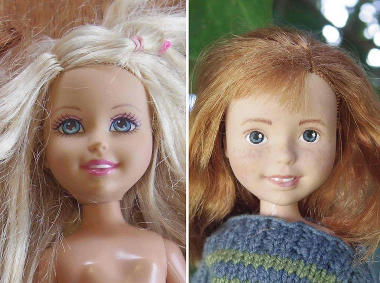This Australian Mom Removes The Make Up On Bratz Dolls