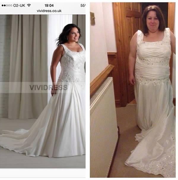 bride ill fitting dress sample