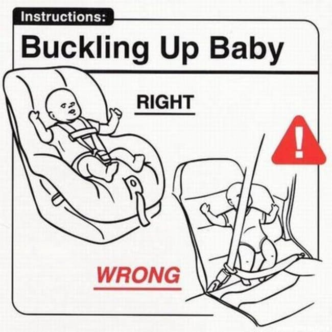 buckling up baby