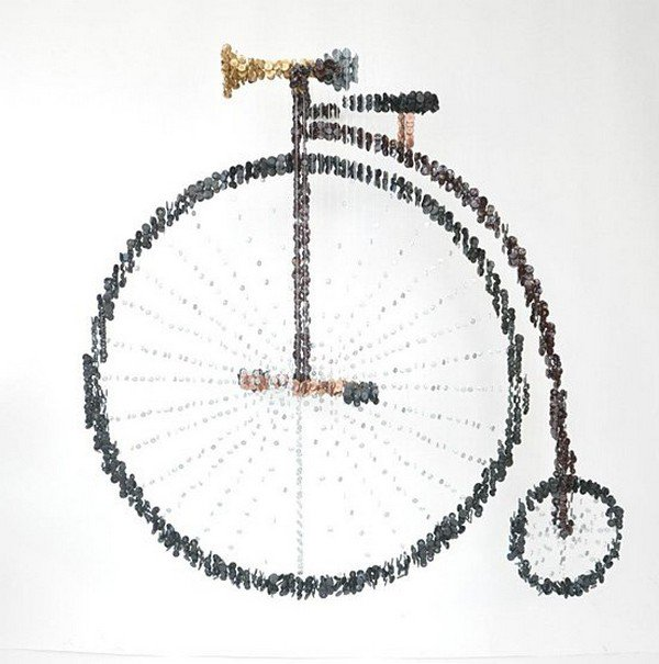 button penny farthing