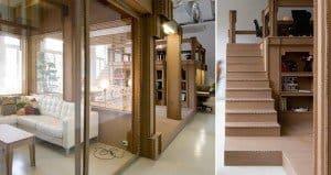 cardboard office in Amsterdam