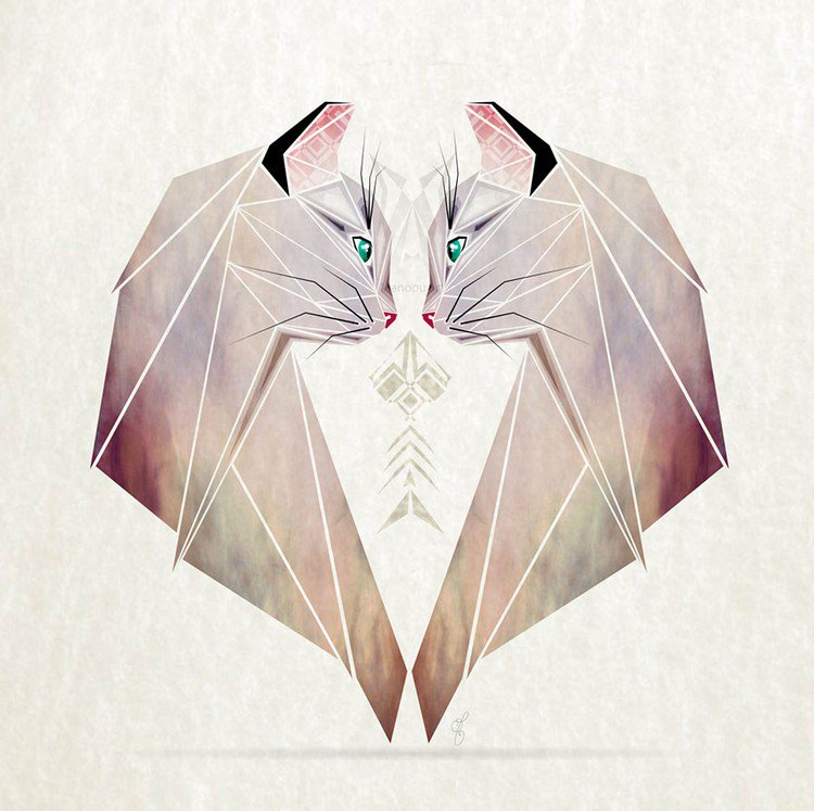 This Artist Creates Awesome Tangram Inspired Geometric