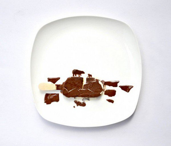 chocolate animals plate