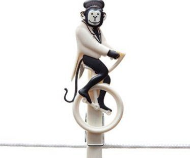 circus act clothes pegs monkey