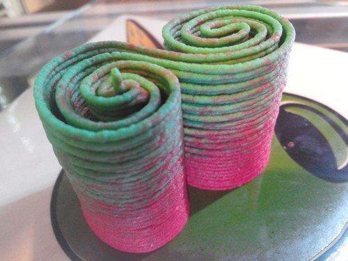 colorful hummus swirls
