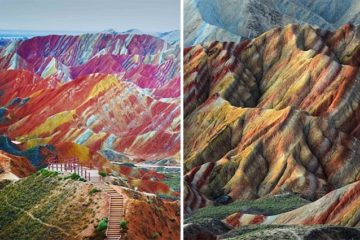 colorful mountains china