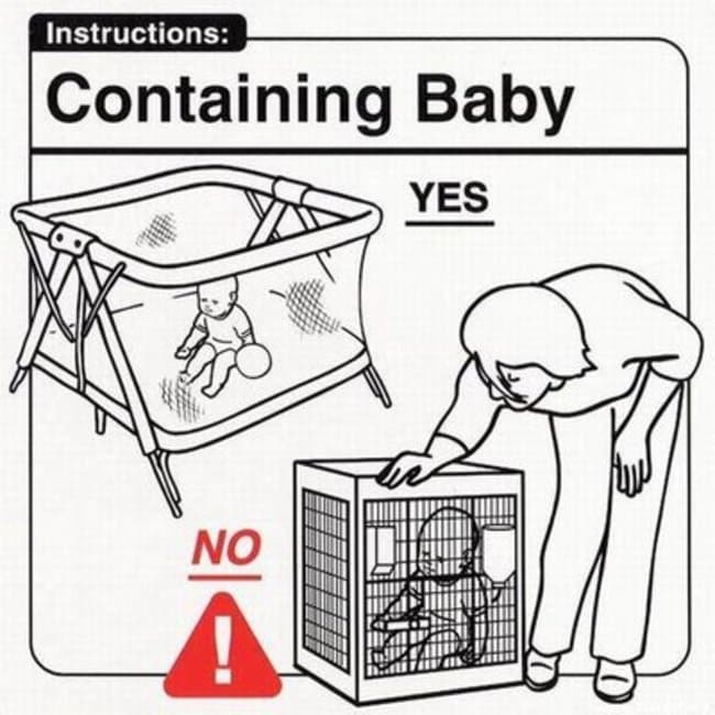 containing baby