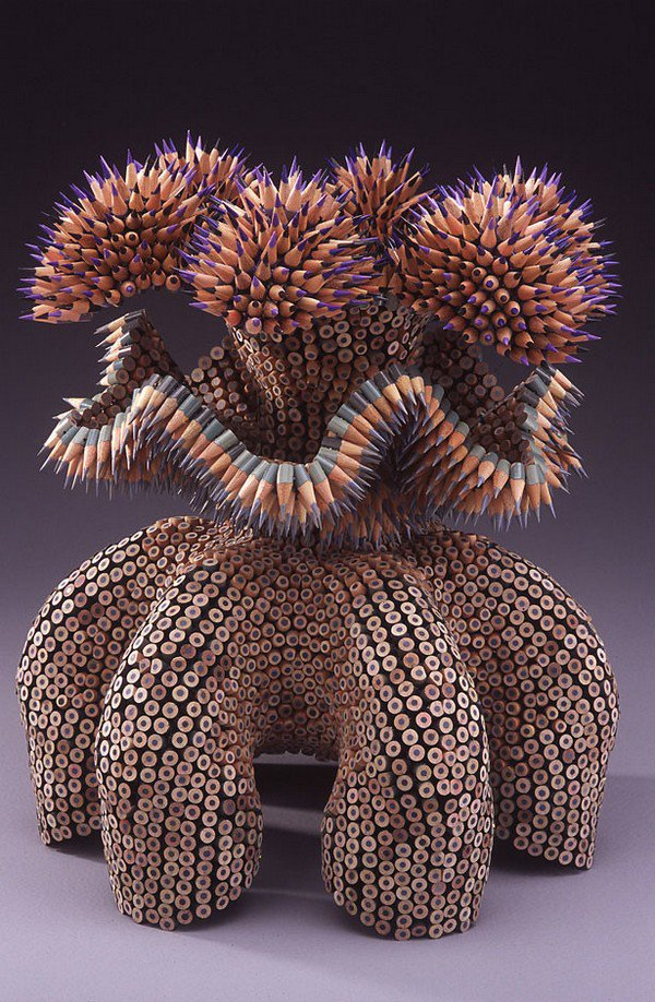 Instead Drawing Pencils Jennifer Maestre Actually Uses Them For Her Amazing Sculptures