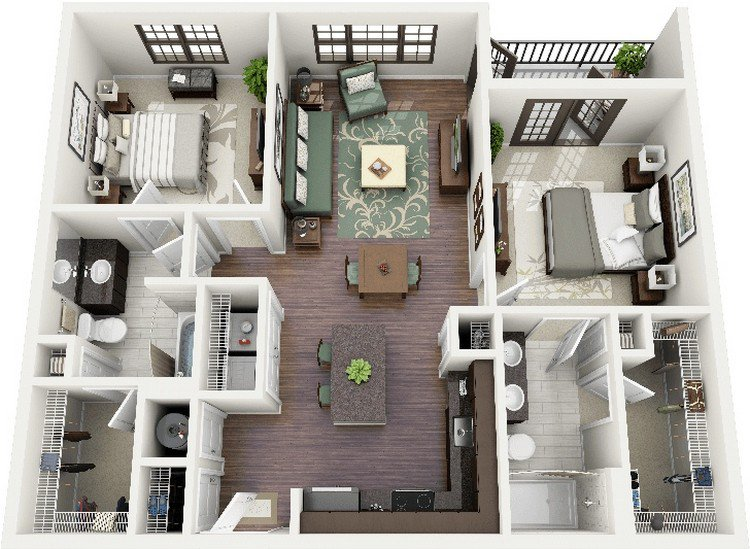 crescent ninth street apartment