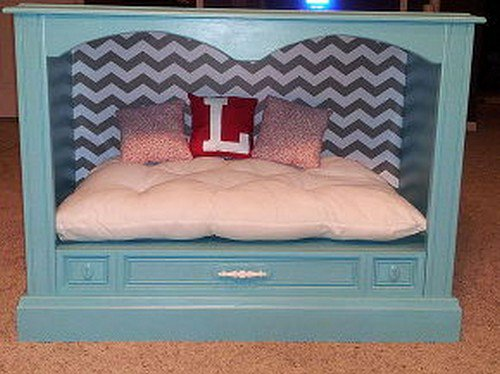 decorating tv dog bed