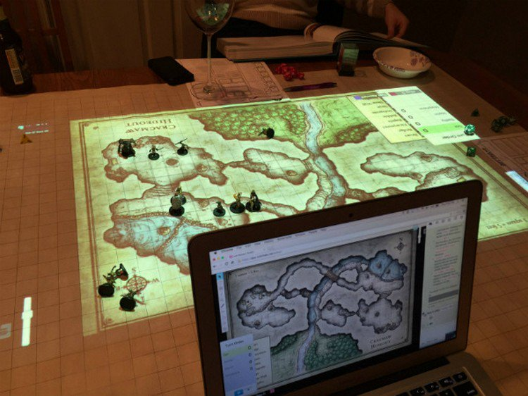 digital map d d  laptop