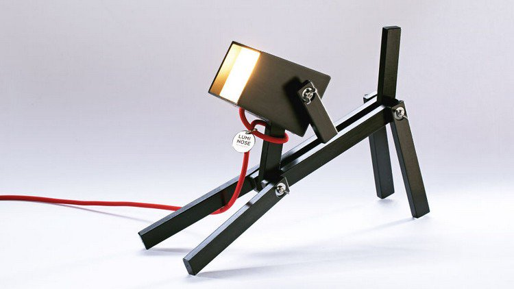 dog lamp black