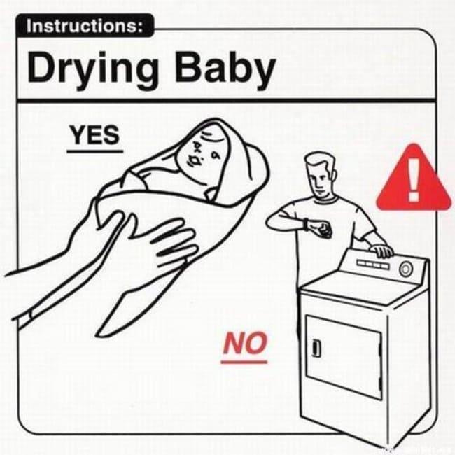 drying baby