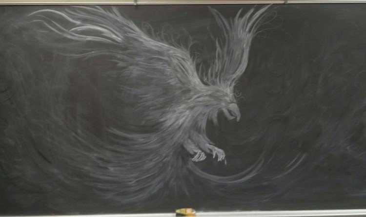 eagle chalked picture