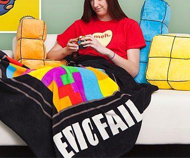 epic fail tetris blanket black