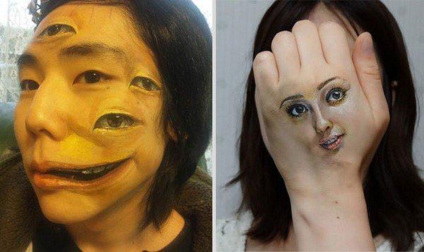 face hand art