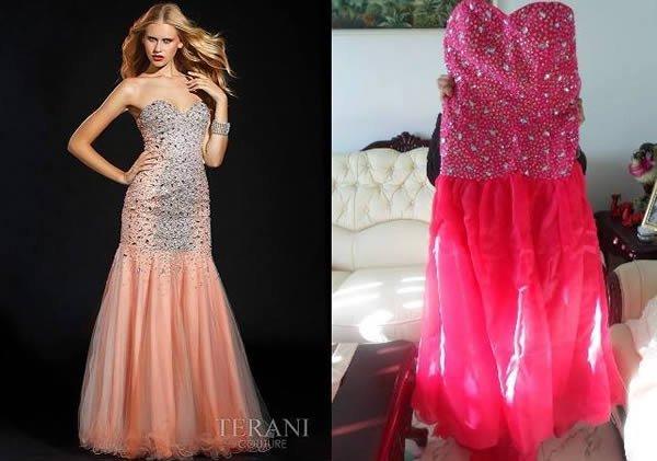 fake real pink dress